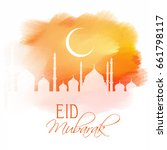 eid mubarak design on a... | Shutterstock .eps vector #661798117