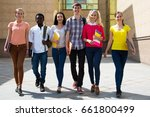group of diverse students...   Shutterstock . vector #661800499