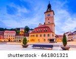 brasov  romania. medieval... | Shutterstock . vector #661801321