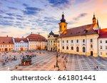 sibiu  romania. city hall and... | Shutterstock . vector #661801441