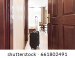 Stock photo view of hotel room 661802491