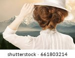 retro styled picture of woman... | Shutterstock . vector #661803214