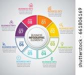 modern infographic timeline... | Shutterstock .eps vector #661806169