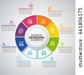 modern infographic timeline... | Shutterstock .eps vector #661806175