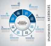 modern infographic timeline...   Shutterstock .eps vector #661806181