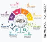 modern infographic timeline...   Shutterstock .eps vector #661806187