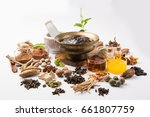 indian ayurvedic dietary... | Shutterstock . vector #661807759