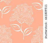 vector seamless pattern of... | Shutterstock .eps vector #661809511