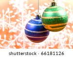 various new year's ornaments... | Shutterstock . vector #66181126