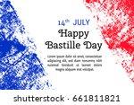 vector illustration bastille... | Shutterstock .eps vector #661811821