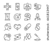 medical technology line icon... | Shutterstock .eps vector #661813447