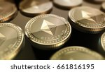 glossy ethereum in blurred... | Shutterstock . vector #661816195