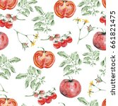 watercolor seamless pattern of... | Shutterstock . vector #661821475