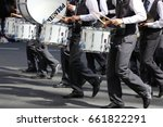 Small photo of BRISBANE, AUSTRALIA - APRIL 25, 2017: School children play their instruments int eh ANZAC parade.