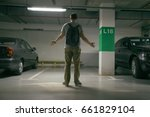 young man's car was stolen  can'... | Shutterstock . vector #661829104