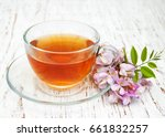 Cup Of Herbal Tea With Acacia...