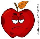 Grumpy Rotten Red Apple Fruit...