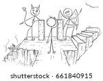 cartoon vector of angel and... | Shutterstock .eps vector #661840915