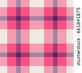 pink  blue and white tartan... | Shutterstock . vector #661841875