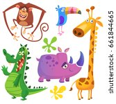 cartoon africa animals set.... | Shutterstock .eps vector #661844665