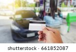 credit card to make a payment... | Shutterstock . vector #661852087