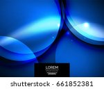 shiny glowing glass circles ... | Shutterstock .eps vector #661852381