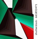 low poly geometric 3d shape... | Shutterstock .eps vector #661852471