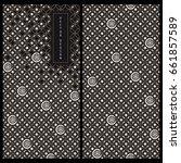vector japanese black and white ... | Shutterstock .eps vector #661857589