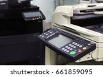 multifunction printer in office ... | Shutterstock . vector #661859095