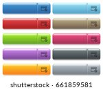 edit credit card engraved style ... | Shutterstock .eps vector #661859581