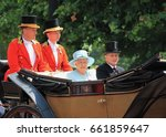 Small photo of Queen Elizabeth ii and Prince Philip, London June 2017- Trooping the Colour parade Queen Elizabeth, prince philip (Duke of Edinburgh) parade for Queen Birthday (Prince Philip last trooping retired)