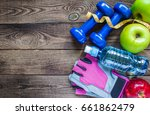 healthy eating  workout and... | Shutterstock . vector #661862479