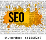 seo  search engine optimization ... | Shutterstock . vector #661865269