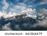 mountain landscape in dolomites ... | Shutterstock . vector #661866679