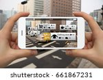 augmented reality in marketing. ... | Shutterstock . vector #661867231