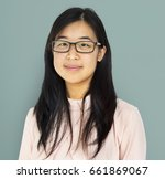 young adult asian girl smiling... | Shutterstock . vector #661869067