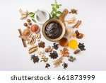 indian ayurvedic dietary... | Shutterstock . vector #661873999