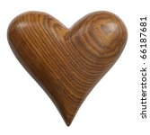 Photo Of A Carved Wooden Heart...