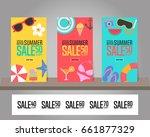 summer sale background for... | Shutterstock .eps vector #661877329