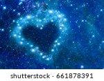 bright stars in a night sky... | Shutterstock . vector #661878391