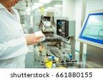 medicine factory worker or...   Shutterstock . vector #661880155