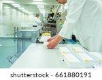 medicine factory worker or... | Shutterstock . vector #661880191