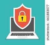 computer security concept.... | Shutterstock .eps vector #661883077