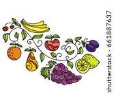fruits. vector illustration. | Shutterstock .eps vector #661887637