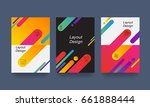 abstract colorful layout .... | Shutterstock .eps vector #661888444