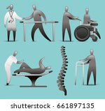 physiotherapy icon set | Shutterstock .eps vector #661897135