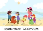 illustration of stickman kids... | Shutterstock .eps vector #661899025