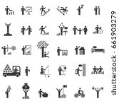 business man activities icon set | Shutterstock .eps vector #661903279