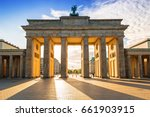 the brandenburg gate in berlin... | Shutterstock . vector #661903915