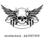 abstract vector illustration... | Shutterstock .eps vector #661907359